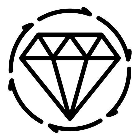 Foto de Diamond rating customer icon, outline style - Imagen libre de derechos