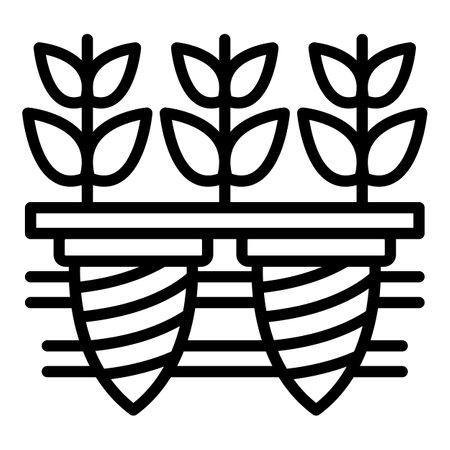 Photo pour Plant seed icon, outline style - image libre de droit