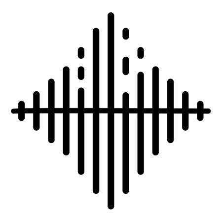 Photo pour Audio frequence icon, outline style - image libre de droit