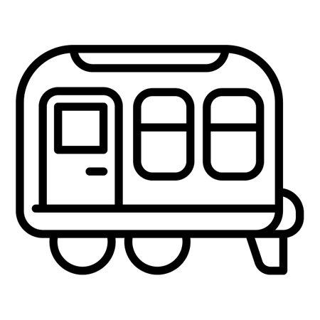 Photo pour Caravan trailer icon, outline style - image libre de droit