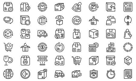 Illustration for Return of goods icon, outline style - Royalty Free Image