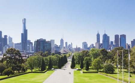View of the skyline in Melbourne, Australia