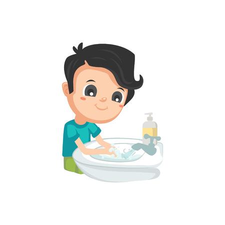 Illustration for Good Habits - Washing Hands - Royalty Free Image
