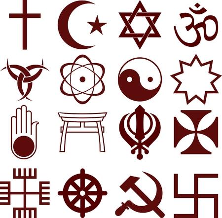 Ilustración de religious icons - Imagen libre de derechos