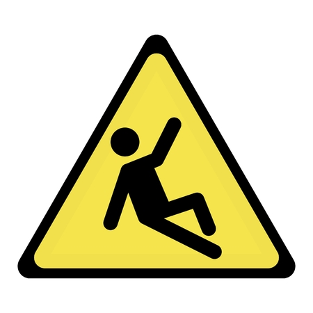 slippery hazard