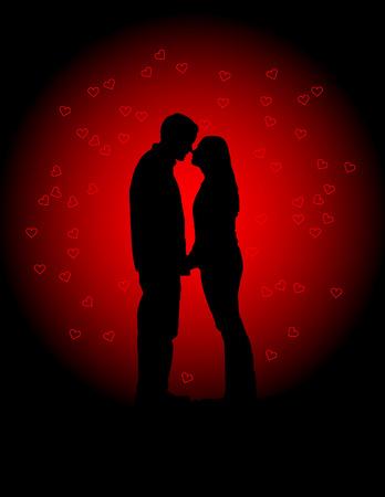Valentines Lovers Vector Illustration