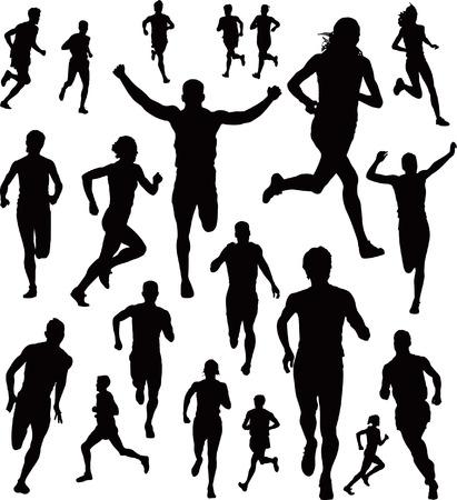 Illustration pour Collection of Runners - image libre de droit