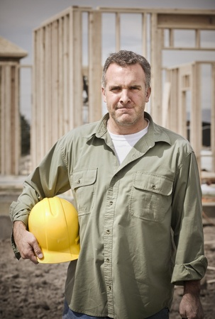 Rugged Male Construction Worker portrait