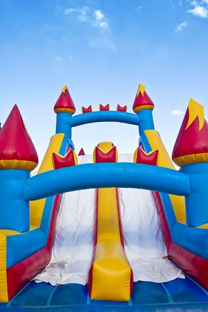 Photo pour Children's Inflatable Castle Jumping Playground - image libre de droit