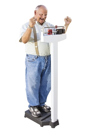 Senior Male excited about Weight Loss