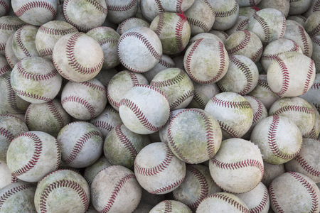 Large Stack Of Baseballs