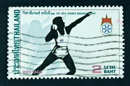 THAILAND - CIRCA 1985  A stamp printed in Thailand shows image of XIII Sea Games Bangkok, circa 1985