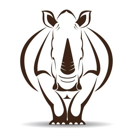 Ilustración de image of an rhino on white background - Imagen libre de derechos