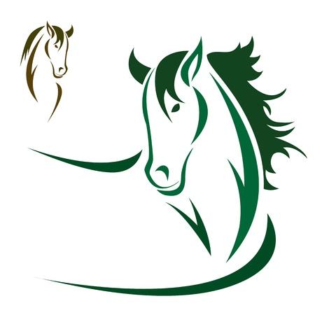 Ilustración de Vector head of horse on a white background - Imagen libre de derechos
