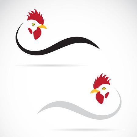 Illustration pour Vector image of an cock on white background - image libre de droit