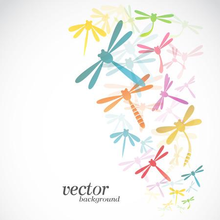 Dragonfly design on white background -  Vector Illustration