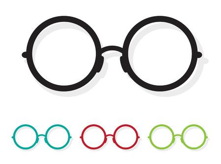 Vector image of Glasses white on white background.