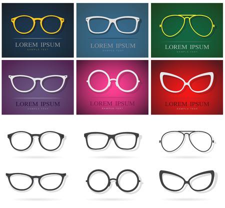 Vector group of an glasses design. Fashion eyewear