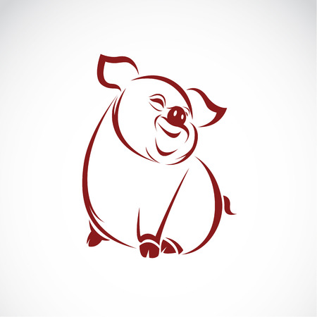 Ilustración de Vector image of an pig on white background - Imagen libre de derechos