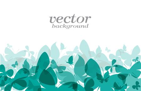 Illustration for Butterfly design on white background - Vector Illustration, background - Royalty Free Image