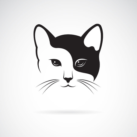 Ilustración de Vector image of an cat face design on white background. - Imagen libre de derechos