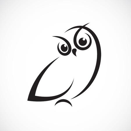 Ilustración de Vector of owl design on white background. - Imagen libre de derechos