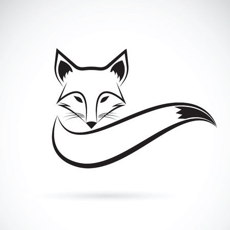Vector image of a fox design on a white background, Wild Animals, Vector illustration.