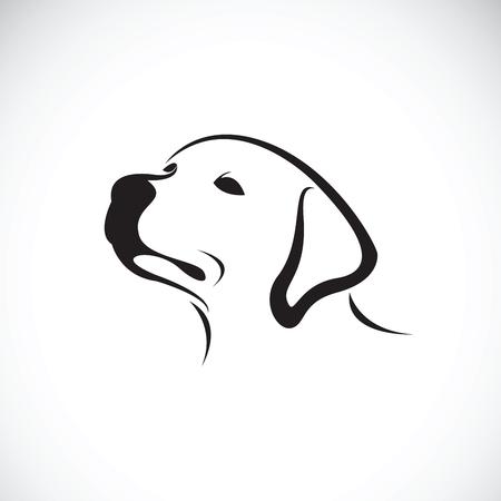 Ilustración de Vector of a dog head(Labrador Retriever) on white background, Pet. Animals. - Imagen libre de derechos
