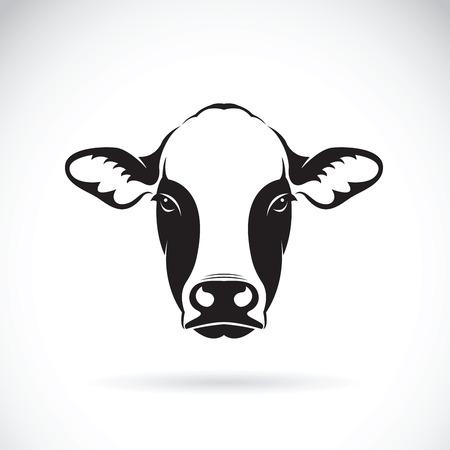 Ilustración de Vector of cow face design on white background. Farm Animal. - Imagen libre de derechos