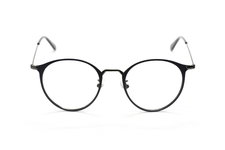 Image of modern fashionable spectacles isolated on white background, Eyewear, Glasses