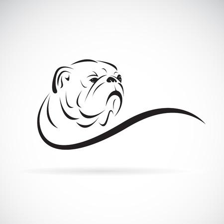 Illustration pour Bulldog head design on white - image libre de droit