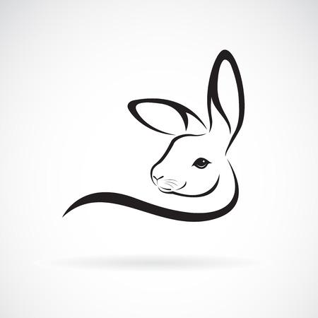 Illustration pour Rabbit head design on white - image libre de droit