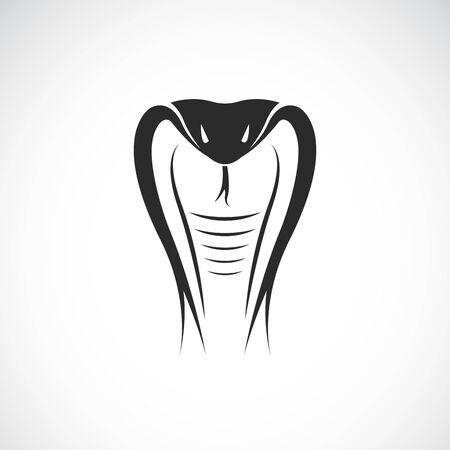 Illustration pour Vector of snake head design on white background. Animals. Reptile. Cobra logo or icon. Easy editable layered vector illustration. - image libre de droit