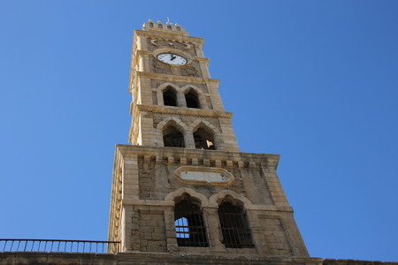 Clock Tower in Acre, Israel