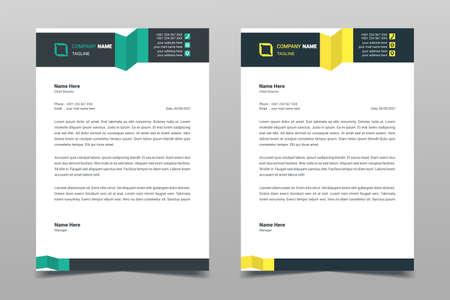 Foto für Letterhead design template. Creative elegant modern business A4 letterhead template for your project design. Illustration vector - Lizenzfreies Bild