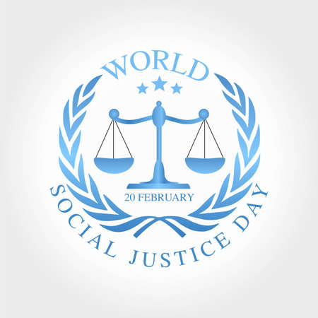 Illustration for World Social Justice Day Vector Illustration. Suitable for Greeting Card, Poster and Banner. - Royalty Free Image