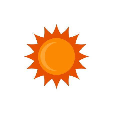 Illustration for sun vector graphic design illustration - Royalty Free Image