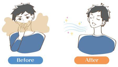 Illustration pour Bad breath men set - image libre de droit