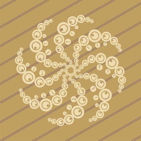 ufo crop circles design in wheat/corn fields