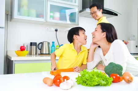 Photo for Asian Family Kitchen Lifestyle - Royalty Free Image