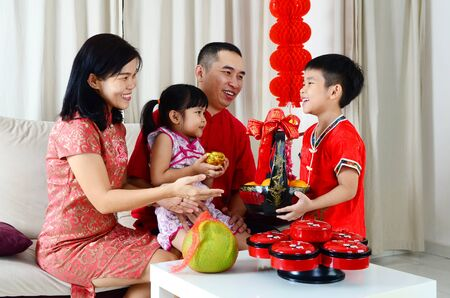 Photo for Asian family celebrate chinese new year - Royalty Free Image