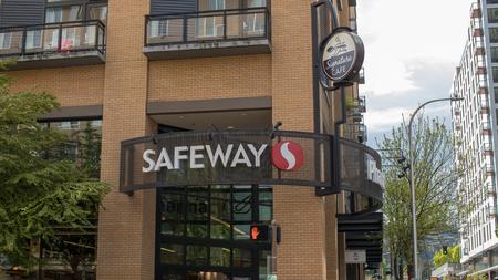 Portland, Oregon, USA - April 26, 2018 : Safeway, American supermarket chain in Portland, Oregon