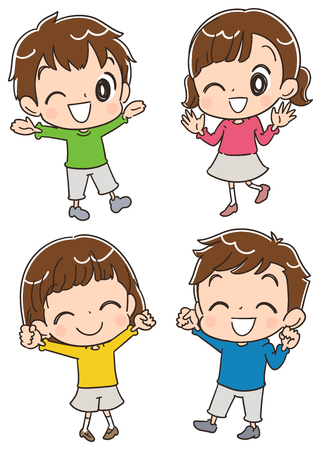 Ilustración de Children having fun - Imagen libre de derechos