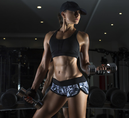 Cropped studio shot of a stunning hot sporty body of a fitness woman