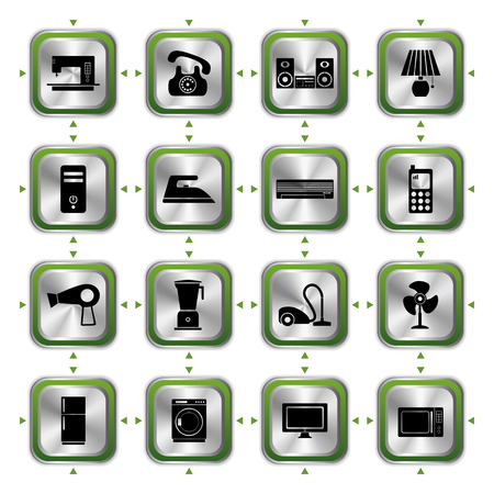 Electrical Appliances Icons Set. Illustration