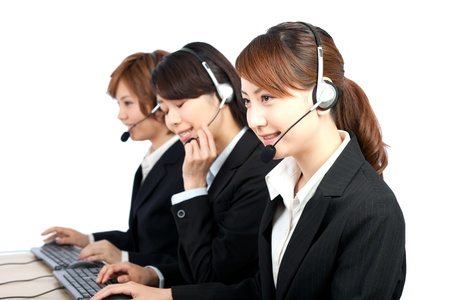 Beautiful business operator  Portrait of asian woman