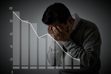 Businessman with burnout syndrome
