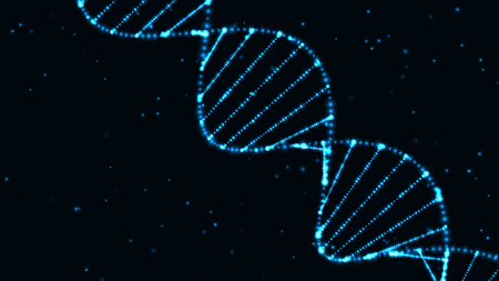 Photo pour abstract technology science concept, DNA code structure with glow. Science concept background. Nano technology. - image libre de droit