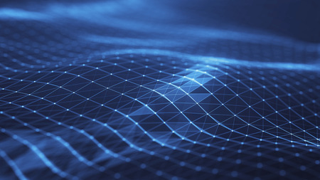 Photo pour Plexus abstract network titles technology digital background.Geometrical shape with triangle particles futuristic molecular structure lines. - image libre de droit