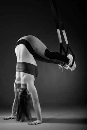 Photo for Side view of a beautiful young woman athlete - Royalty Free Image